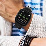 Розумні годинник Lemfo F16 з кардиодатчиком (Чорний), фото 7