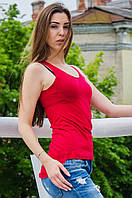 Майка женская красная DF0922
