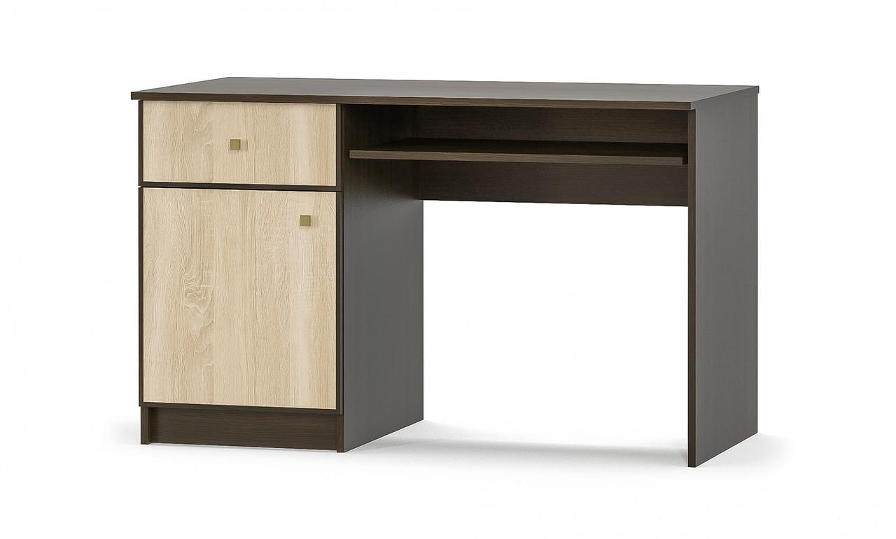 Стол 120 Фантазия венге темный + дуб самоа  Мебель Сервис(120.3х59.8х77.4 см)