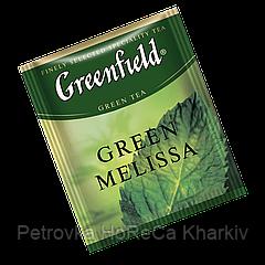 """Чай зеленый в пакетиках  Greenfield """"Green Melissa"""" 100шт зеленый с мелисой"""