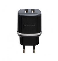 Мережевий зарядний пристрій Borofone BA25A 2.1A, 2 USB Black