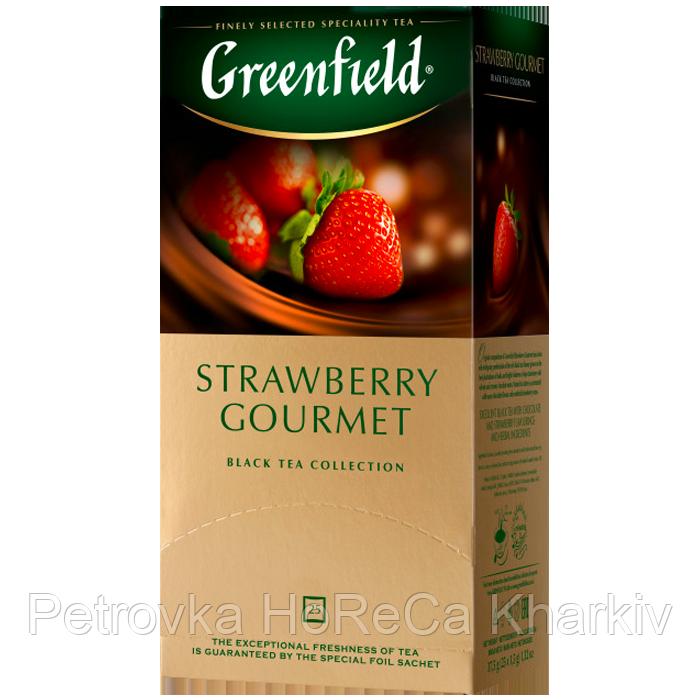 """Чай  черный в пакетиках Greenfield  """"Starawberry Gourmet""""  25шт Клубника"""