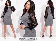 Трикотажне плаття жіноче (3 кольори) SD/-711 - Сірий, фото 1