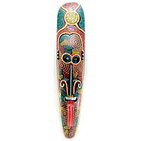 Маска с языком расписная деревянная (100х20,5х8 см)