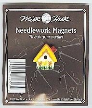 """Магнитный держатель для игл """"Sunflower Birdhouse//Скворечник с подсолнухами"""" Mill Hill MHMAG3"""
