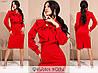 Приталенное платье женское (3 цвета) SD/-714 - Красный