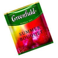 "Чай  черный в пакетах  Greenfield ""Summer Bouget"" 100шт Малина"
