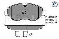 Тормозные колодки передние (с датчиком,система Bremo) Mersedes Vito 639 2003- MEYLE (Германия) 025 291 9220/PD