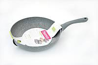 Сковорода 26х5,5 см. Vulcano Fissman с индукционным дном (алюминия натуральной каменной крошки)