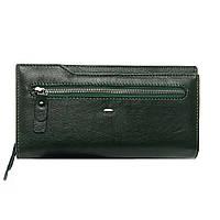 Женский кожаный кошелек -клатч 19,5*10,5*3 зеленый, фото 1