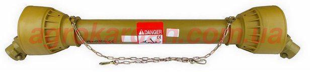 Вал карданний для сільгосптехніки 760 мм, хрест. 35х94, 6 шліц/8 шліц