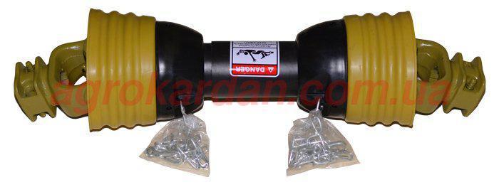 Вал карданный для сельхозтехники 410 мм, крест. 35х94, 6 шлиц/8 шлиц