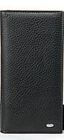 Женский кожаный кошелек 10*19*3 черный, фото 1