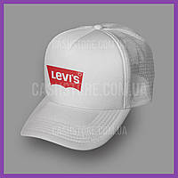 Кепка Тракер Levis 'Housemark Logo Box'   Белая