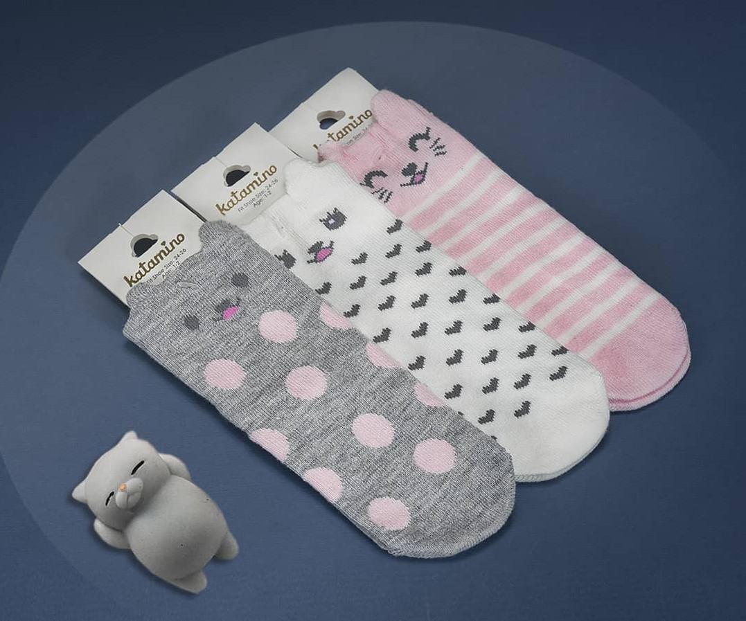 Хлопковые носки для девочек 7-8 лет ТМ Katamino 5489612774151