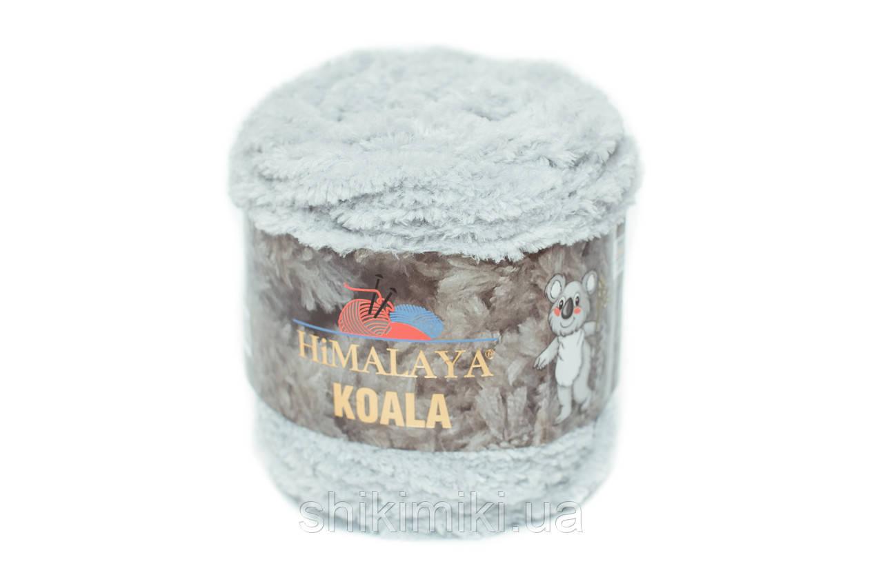 Пряжа велюровая Himalaya Koala, цвет Светло серый
