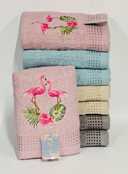Полотенце пара фламинго