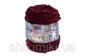 Пряжа велюровая Himalaya Koala, цвет Бордовый