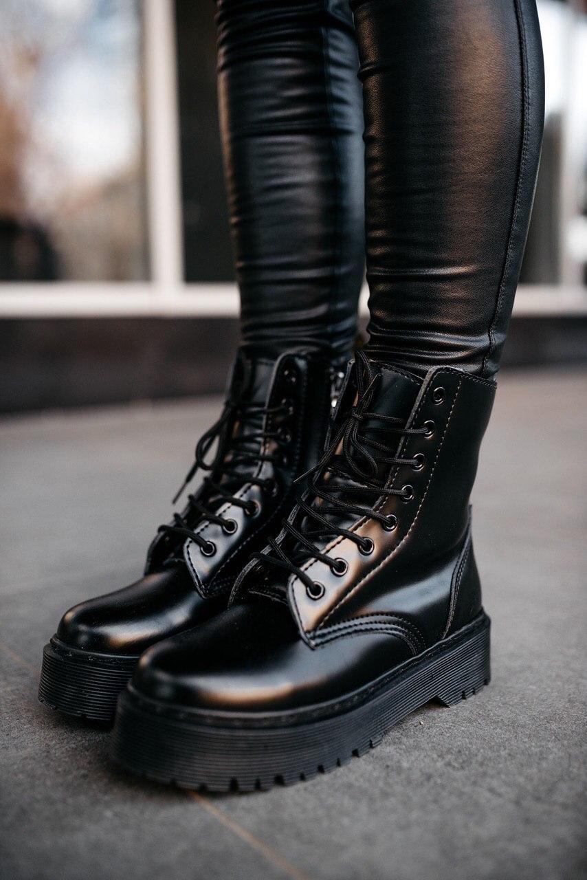Женские Зимние Черные Ботинки Dr.Martens JADON