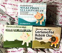 Набор корейской косметики Elizavecca две маски для лица и крем, подарочный набор косметики Елизавека + подарок