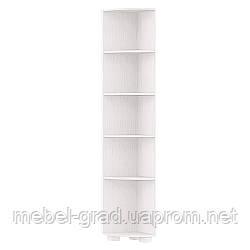 Стеллаж угловой Монблан МБ-4 Санти Мебель белый