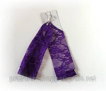 Перчатки детские, фиолетовые