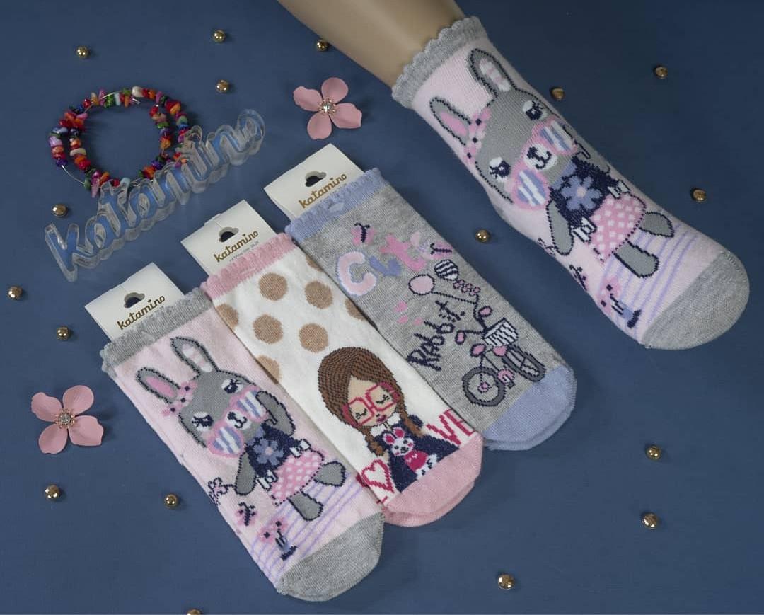 Хлопковые носки для девочек 9-10 лет ТМ Katamino 5489612774161