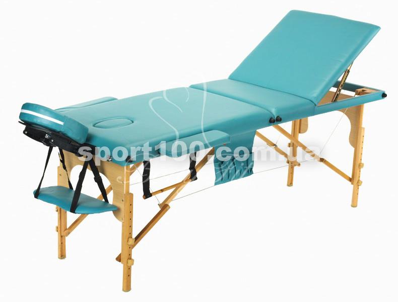 Массажный стол профессиональный деревянный 3-х сегментный Body Fit (Фисташковый)