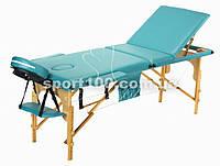 Массажный стол профессиональный деревянный 3-х сегментный Body Fit (Фисташковый), фото 1