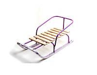Санки детские Водан фиолетовые 8 поперечных планок СД-2