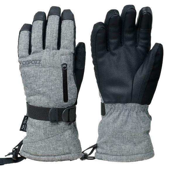 Перчатки горнолыжные теплые мембранные COPOZZ 2860 - влагозащита, ветрозащита