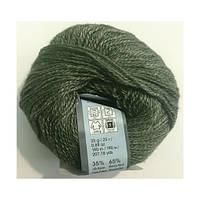 Турецкая  зимняя пряжа для вязания YarnArt Silky Wool (силки вул) шерсть с шелком 346 зеленый