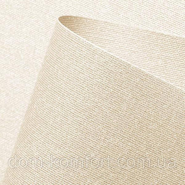 Рулонная штора Люминис ткань с перламутровым  напылением светоотражающая цвет шампань