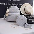 Набор сумок 3 в 1 женский стильный из кожзама купить оптом со склада 7км Одесса, фото 3