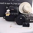 Набор сумок 3 в 1 женский стильный из кожзама купить оптом со склада 7км Одесса, фото 2