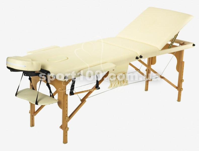 Массажный стол профессиональный деревянный 3-х сегментный Body Fit (Бежевый)