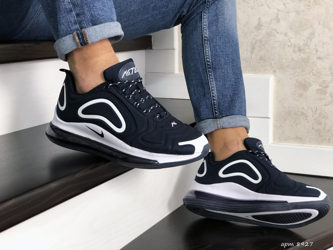 Чоловічі кросівки Nike Air Max 720 (темно-сині з білим) 8927