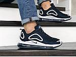 Чоловічі кросівки Nike Air Max 720 (темно-сині з білим) 8927, фото 4
