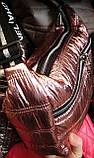 Женские стеганные сумки под пуховик на молнии 28-14 см (черная и розовая), фото 2