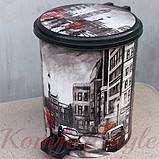 Ведро для мусора с педалью Рисунок 17л рисунки в ассортименте, фото 3