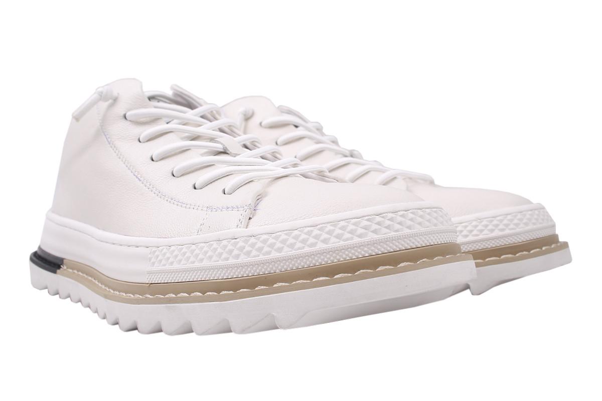 Ботинки мужские из натуральной кожи, белые, Arees