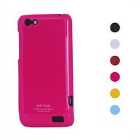 Чехол пластиковый SGP Ultra Thin на HTC ONE V T320e (голубой, салатовый, желтый, розовый, малиновый)