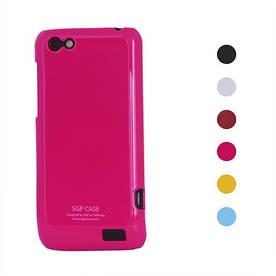 Чехол пластиковый SGP Ultra Thin на HTC ONE V T320e , малиновый