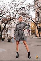 Короткое платье женское на кнопках - Р 2649