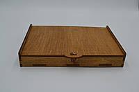 Коробка органайзер с фанеры  205*145*25мм