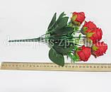 Букет розочек пионовидных, красный, фото 2