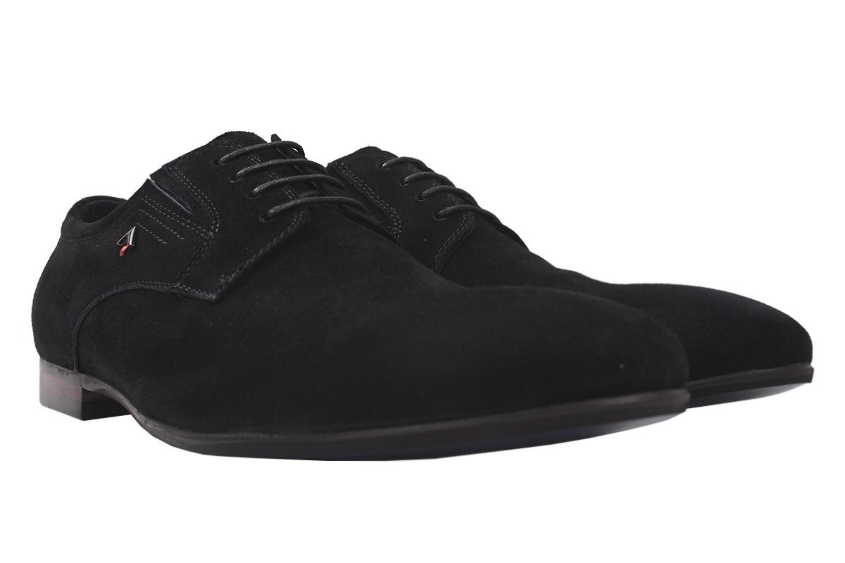 Туфлі чоловічі Cosottinni натуральний замш, колір чорний, розмір 39-45
