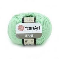 Турецкая пряжа для вязания YarnArt Jeans (Джинс) полухлопок 79 мята
