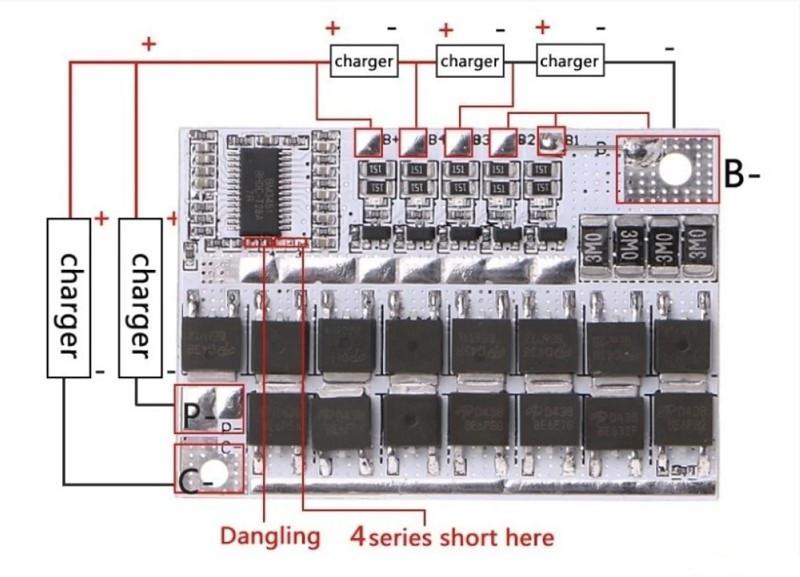 Модуль защиты 18650 5S 100A. 12 В; 16,8 В; 21 В
