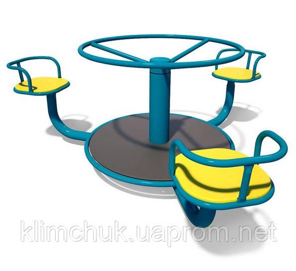 """Карусель """"Ромашка"""" для дитячих ігрових майданчиків KidSport"""